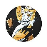 Zemivs Set di 4 Tazze da caffè Rotonde Tappetino da Cucina Club Arti Marziali Gatto Ninja Tavolo da Pranzo Tappetino Colore tovagliette da 15,4 Pollici Facile da Pulire per Cucina Tavolo da pr