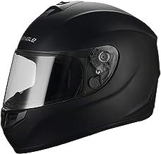 triangle Matte Black Full Face Lightweight, Aerodynamic, Comfortable Street Bike Motorcycle Helmet Unisex Adult DOT Approved
