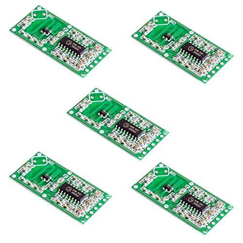 ROKOO 5 Stück Mikrowellen-Radarsensor RCWL-0516 Switch-Modul Induktion Human Board Detector