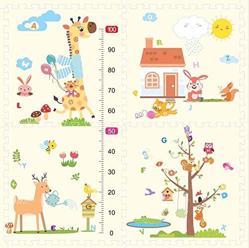 NLRHH Jigsaw Tiles Playmat, baldosas de Espuma de Enclavamiento, no tóxico, Inodoro, para Baby gateando, Gimnasia, Yoga, g, 60 * 60 * 1.2cm (4pcs) Peng (Color : I, Size : 60 * 60 * 1.0cm(4PCS))