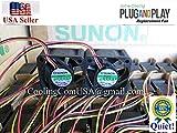 2X Quiet Sunon Fans for Cisco Linksys SR2024, SRW2016, SRW2024, and SRW248G4 Switches