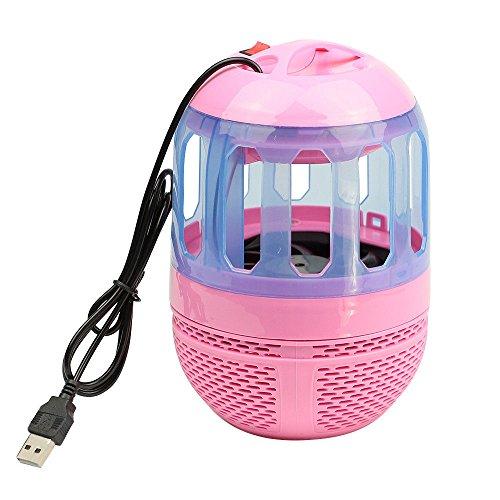 LEEBA Lámpara electrónica antimosquitos con USB funcional, antimosquitos, lámpara de trampa de insectos y luz LED para mejorar la calidad del sueño para el dormitorio