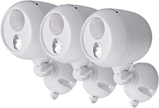 Mr. Beams Wireless 120 Degree White Motion Sensing Outdoor Integrated LED Security Spot Light (3-Pack)