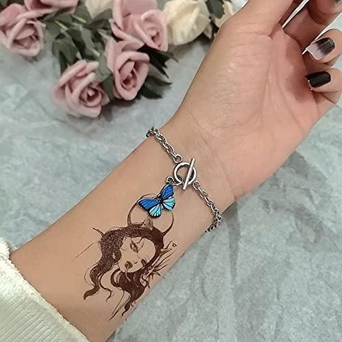 Pulsera de Mariposa Popular para Mujer, Pulsera de Moda de Color Azul, Regalo de joyería de Mano para Boda