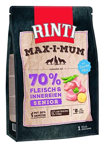 Rinti Max-i-Mum Senior Huhn Trockenfutter für Hunde, 4 Kg