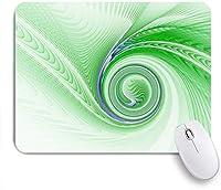 ECOMAOMI 可愛いマウスパッド 白い背景の上の緑の抽象的なフラクタルスパイラル 滑り止めゴムバッキングマウスパッドノートブックコンピュータマウスマット