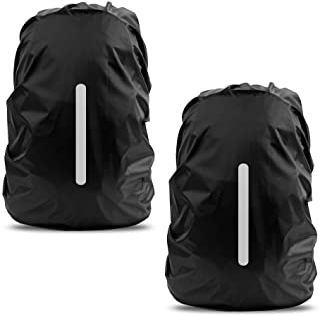 LAMA 2 Pack Waterproof Rain Cover for Backpack, Reflective Rucksack Rain Cover for..