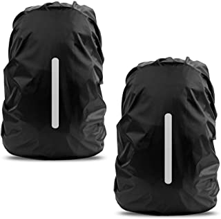 LAMA Waterproof Rain Cover for Backpack 2 Pack Bag Rain Cover Reflective Rucksack Rain Cover for Anti-dust/Anti-Theft/Bicycling/Hiking/Camping/Traveling/Outdoor Activities