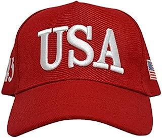 Make America Great Again Donald Trump Slogan with USA Flag Cap Adjustable Baseball Hat