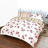 Nimsay Home Katy - Juego de funda de edredón (100% algodón, fácil cuidado, reversible, 200 x 200 cm, incluye 2 fundas de almohada de 50 x 80 cm), diseño de amapolas