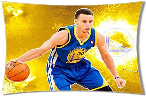 Lulu NBA Superstar Golden State Warriors Stephen Curry Pattern Pillow Case Pillow Case Cover Print Copricuscini e federe (50cmx65cm)
