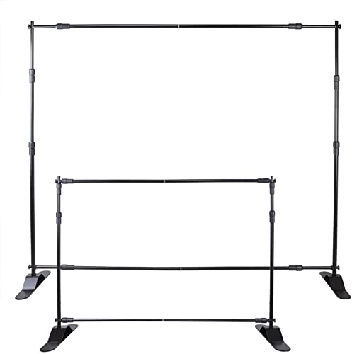 high quality VEVOR Backdrop Banner Stand 8'X 8' - online 10' x 8' Step And Repeat Banner Stand For Trade Show Wall Exhibitor Photo Step And Repeat Stand Free Carrying outlet online sale Case outlet online sale