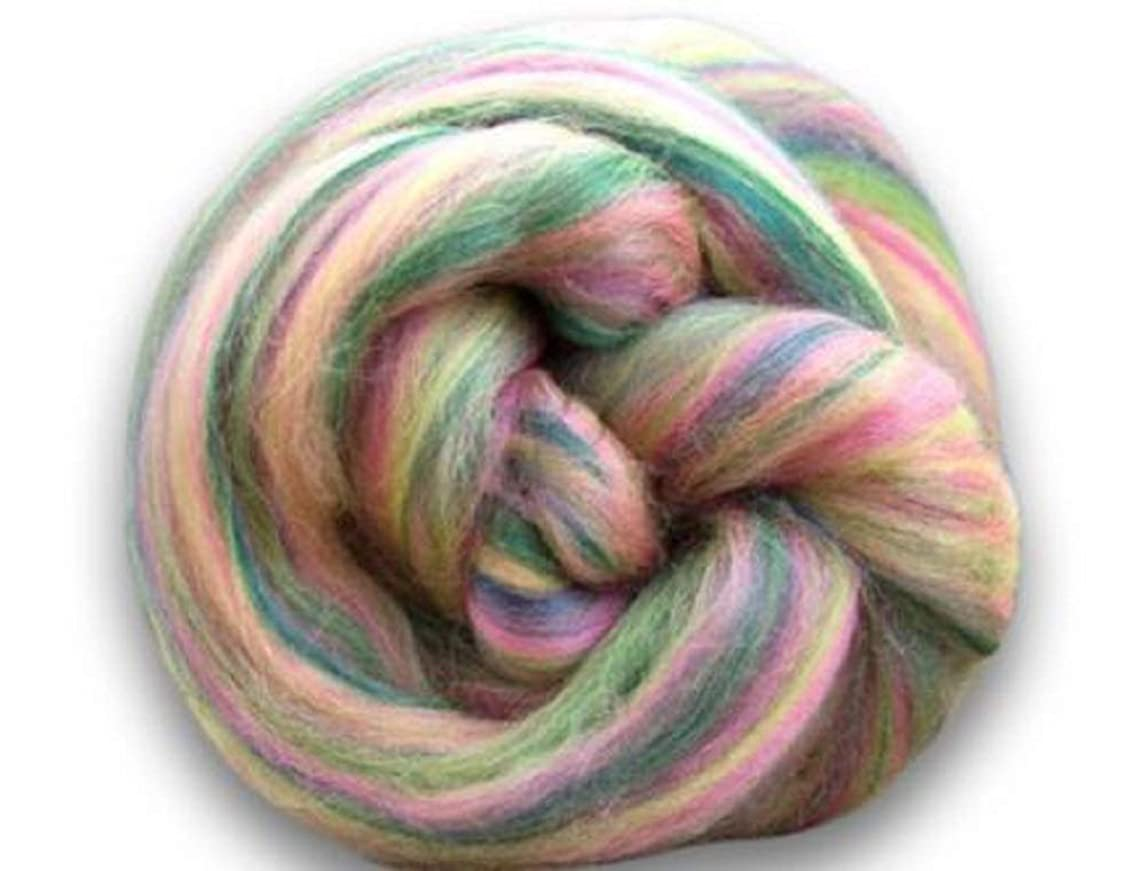 4 oz Paradise Fibers Soft & Silky Bambino Hickory Dickory - 85% 23 Micron Solid Color Merino Wool and 15% Dyed Bamboo Blend