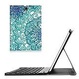 Fintie Bluetooth Tastatur Hülle kompatibel mit Samsung Galaxy Tab E 9.6 T560N / T561N Tablet-PC - Ultradünn Schutzhülle mit magnetisch abnehmbar drahtloser Bluetooth Tastatur, Emerald
