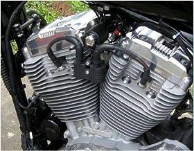 Kit de soporte negro de bobina de encendido para Harley Davidson Sportster 883 XL y 1200, Iron, Custom, Roadster, Superlow, Forty Eight y Nightster