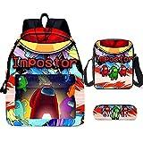 ZBK - Juego con mochila para ordenador portátil, bandolera y estuche del videojuego AMONG US, para niños y niñas, 9colores disponibles