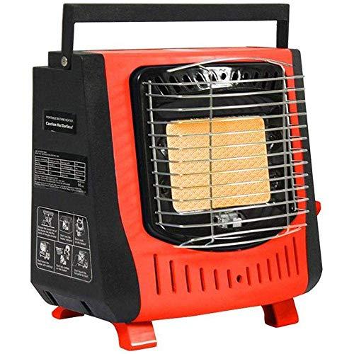 IG 1.2Kw Calentador de Gas Portátil Estufa de Calentadores de Camping Al Aire Libre con Dispositivo de Protección de Hipoxia Cassette Portátil Gas Calentador Al Aire Libre,Naranja