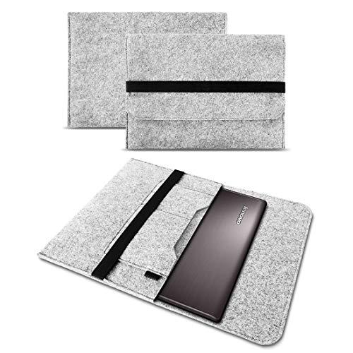 UC-Express Sleeve Hülle kompatibel für Lenovo ThinkPad L13 / L13 Yoga Tasche Filz Notebook Cover Hülle 13 Zoll Grau, Farbe:Hell Grau