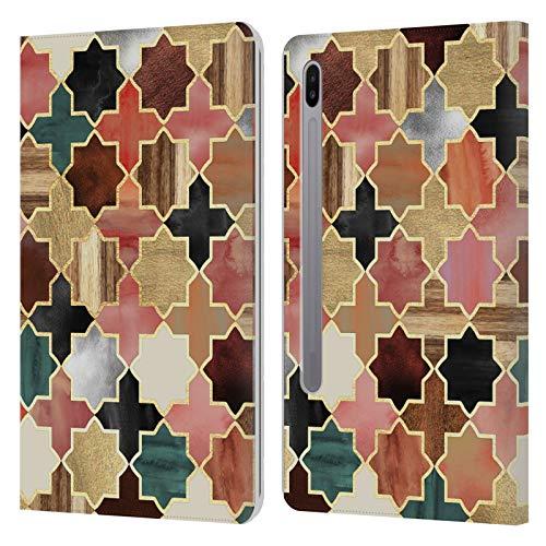 Officiële Micklyn Le Feuvre Twilight Marokkaanse Patronen 8 Lederen Book Portemonnee Cover Compatibel voor Samsung Galaxy Tab S6 (2019)