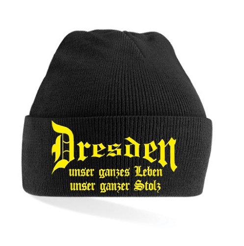 Dresden Ultras Leben & Stolz Strickmütze|Black