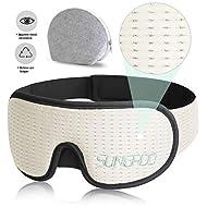 XIAOYI Eye Mask for Sleeping,Sleep Mask 3D Breathable Memory Foam Contours Modular Sleeping Eye Mask Men & Women (White)