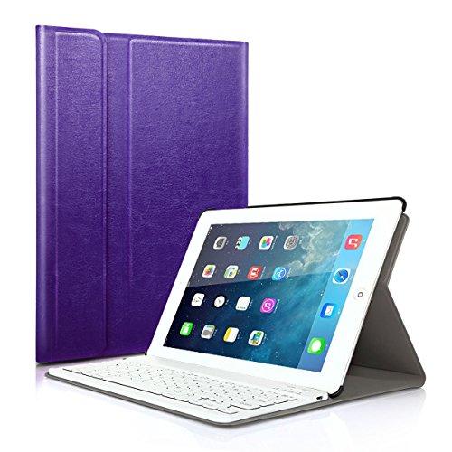 Besmall Wirless Bluetooth con tastiera Android Windows & sistema 25,40 cm (10')-Custodia a libro in pelle PU, per Windows/Uninversal 25,40 cm (10') di sistema Android Tablet