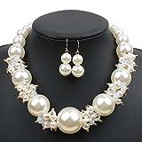 UCJHXFR Collar de perlas de estilo europeo y americano, estilo retro, para mujer, con perlas de cristal, accesorio para collar