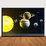 KWzEQ Cartel de Galaxia del Universo, Planetas, Sistema Solar, Impresiones, Lienzo, clásico, decoración del hogar 30X45cmPintura sin Marco