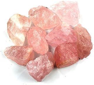 "Crystal Allies Materials: 3lb Bulk Rough Pink Rose Quartz Crystals from Brazil - Large 1"""