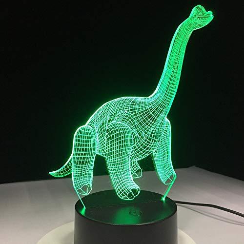 Regalo creativo Lámpara de mesa 3D Regalo de juguete para niños Dinosaurio Acrílico Luz nocturna USB Lámpara de sueño Decoración del dormitorio Regalo para niños 1031