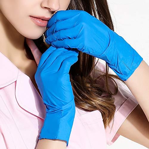 N/A Medizinische Handschuhe blau Dingqing Handschuhe Einweg-Labor Butyl Gummi Arbeitsschutz Einweghandschuhe medizinische 100 geladen M-Code