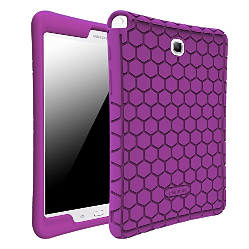 Fintie Silicone Case for Samsung Galaxy Tab A 8.0 (Previous Model 2015), Light Weight [Anti Slip] Shock Proof Protective Cover for Tab A 8.0 SM-T350/P350 2015 (NOT Fit 2017/2018 Version), Purple