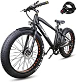 NAKTO 26 inch 350W Fat Tire Electric Bike for Adults Snow/Mountain/Beach Ebike with Shimano 6 Speed Gear and 36V10A Lithium-Ion Battery