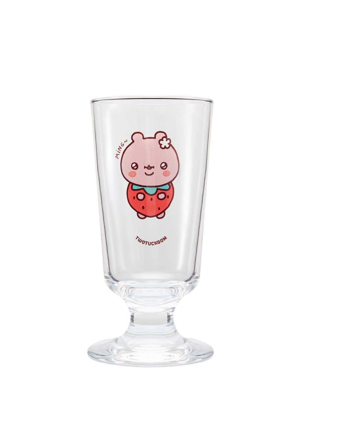 TWOTUCKGOM Collaboration with MONSTA X Goblet Glass - MINGGOM - TTG 9.97 oz Drinkware Made of Glass for Hot Cold Beverage Iced Tea Any Drinks Juice