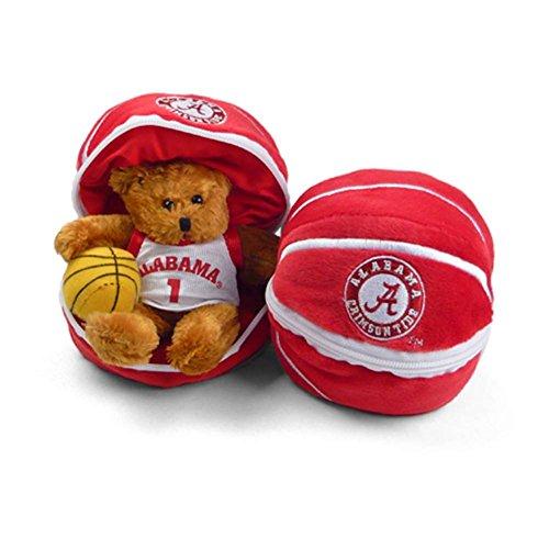Alabama Crimson Tide Stuffed Bear in a Ball - Basketball