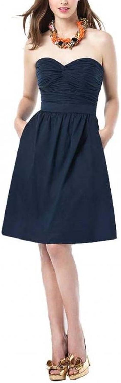 Dearta Women's ALine Sweetheart KneeLength Taffeta Bridesmaid Dresses