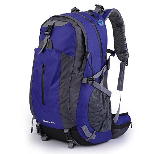 OUTAD 40 L Bergsteigen Rucksack abrieb beständige wasserdichte Rucksack (Blue)