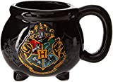 Silver Buffalo HP9895B Warner Bros Harry Potter Hogwarts School Crest Cauldron 3D Sculpted Ceramic Mug, 20-ounces, Black