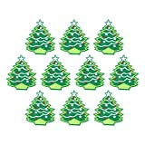 SOIMISS 10pcs Christmas Embroidered Patch Christmas Tree Iron on Applique Xmas Decorative Patches for Clothing Jeans Backpack Repairing Decorations