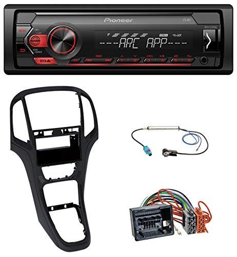caraudio24 Pioneer MVH-S120UB AUX MP3 1DIN USB Autoradio für Opel Astra J ab 2009 Perl schwarz