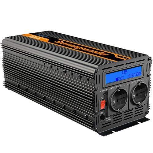 EDECOA Spannungswandler 24v 230v Wechselrichte 3000W 24 Volt Spannungswandler modifizierte Sinu LCD und Fernbedienung