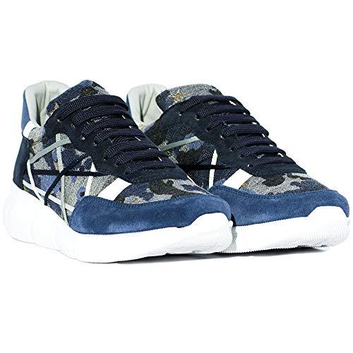 L4K3 Sneaker Blu con Tomaia in Canvas Camouflage MR Big Limited 59 EB (44)