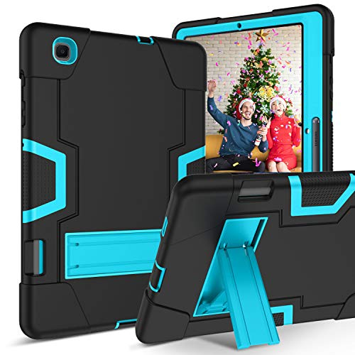 YINLAI Galaxy Tab S6 Lite Tablet Case 10.4 Inch 2020 SM-P610/SM-P615 with S Pen Holder KickStand 3 in 1 Hybrid High Performance Shock Absorber Case for Samsung Galaxy Tab S6 Lite 2020 Black + Blue
