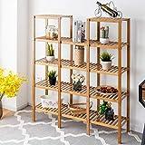 Happygrill Utility Shelf, Plant Stand Shelf Rack Plant Display Stand 5-Tier Storage Organizer Rack