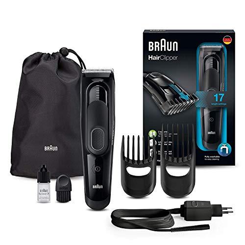 Braun Haarschneider/Trimmer HC5050, ultimatives Haarschneide- Erlebnis von Braun in 17 Längen, schwarz
