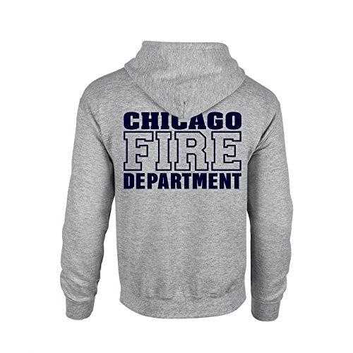 Chicago Fire Dept. - Sweatjacke mit Kapuze in grau (M)