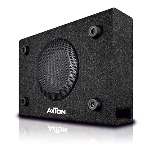 AXTON ATB120: kompakter 20 cm / 8 Zoll Gehäuse Subwoofer, 300 Watt, kleine Bassreflex Bassbox für Auto, LKW und Reisemobil, Plug & Play einfacher Einbau