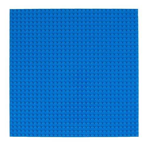 Strictly Briks Stapelbare Premium-Bauplatte - mit Allen großen Marken kompatibel - 10 x 10 (25,4 x 25,4 cm) - Blau