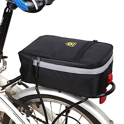 DOLA Bolsa para Maletero De Bicicleta, Bolsa para Asiento Trasero De Bicicleta, Bolsa para Portabicicletas Portátil, Bolsa Multifunción para Alforjas De Bicicleta MTB para Viajes Al Aire Libre