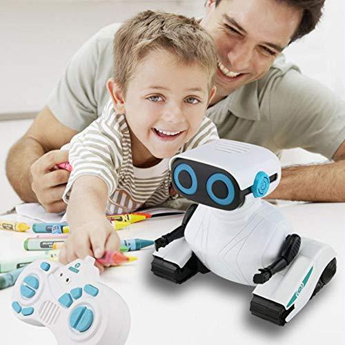 lossomly Robot inteligente de juguete 2,4 GHz con mando a distancia, Walking Dancing Music Light para niños, regalo (blanco)